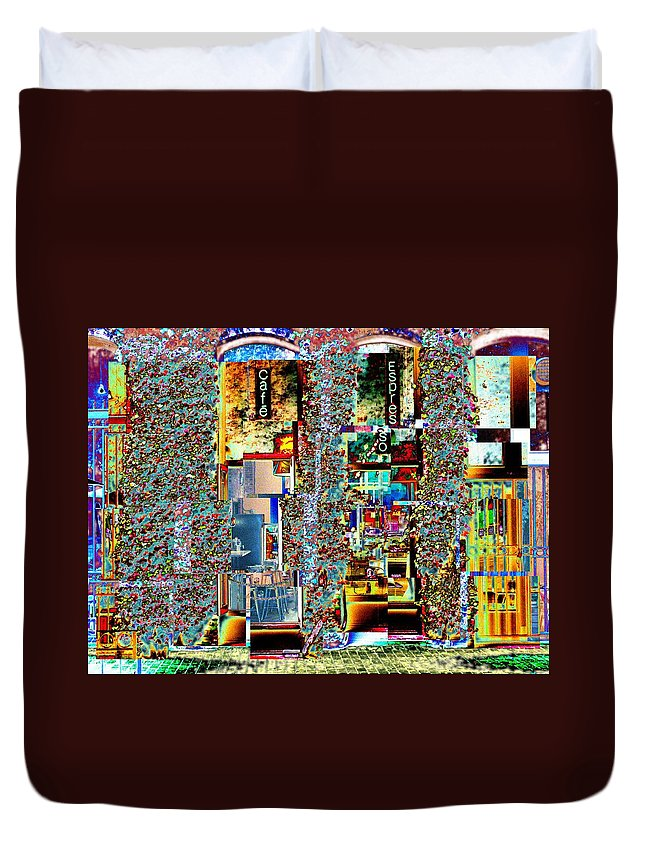 Seattle Duvet Cover featuring the photograph Grand Central Bakery 1 by Tim Allen
