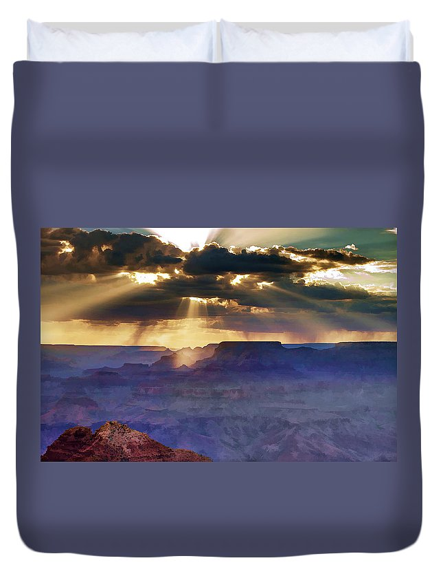 Grand Duvet Cover featuring the photograph Grand Sunlight by Ricky Barnard