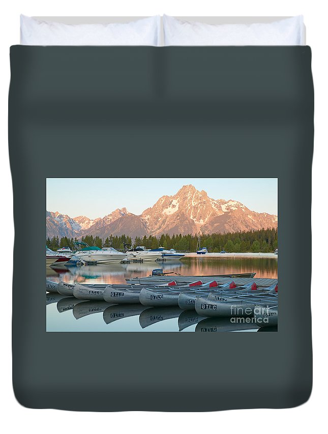 Clarence Holmes Duvet Cover featuring the photograph Grand Teton Dawn IIi by Clarence Holmes