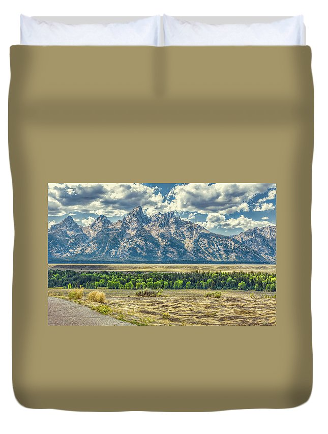 Jackson Duvet Cover featuring the photograph Grand Tetons National Park by John M Bailey
