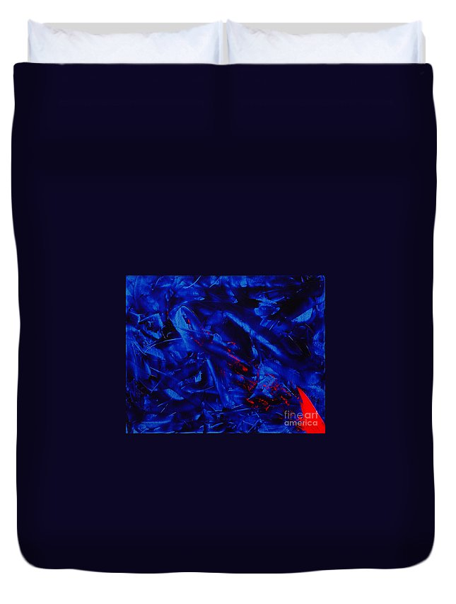 Abstract Duvet Cover featuring the painting Grandma IIi by Dean Triolo