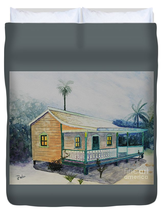 House Duvet Cover featuring the painting Grandma's House by Jerome Wilson