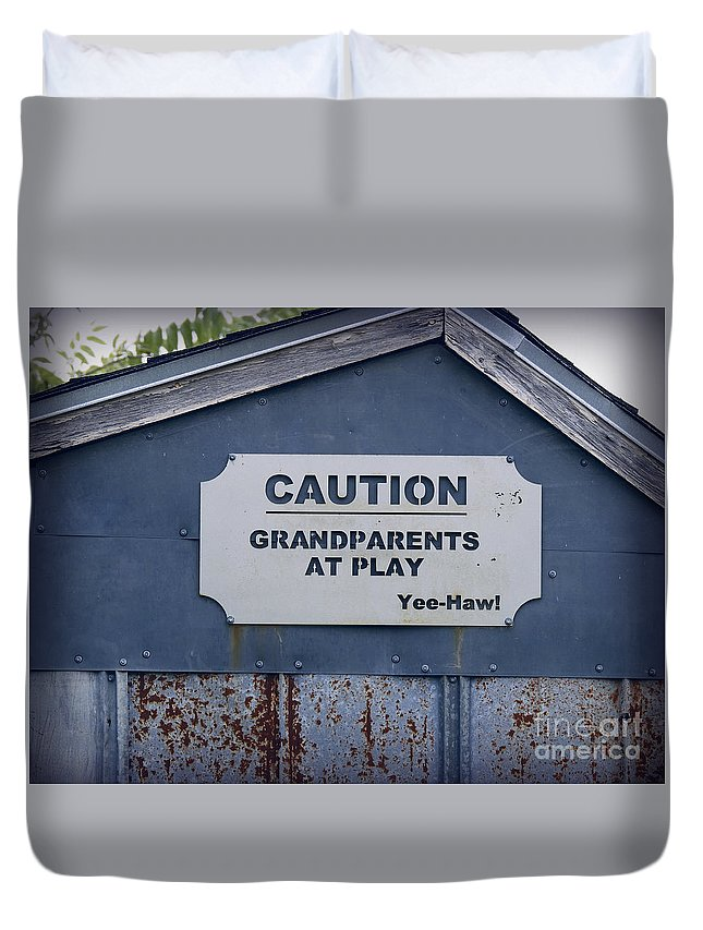 Grandparents Duvet Cover featuring the photograph Grandparents At Play by Ella Kaye Dickey