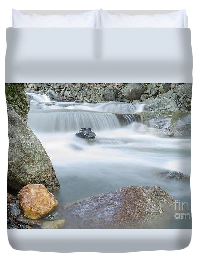 New Hampshire Duvet Cover featuring the photograph Granite Pool by Along The Trail