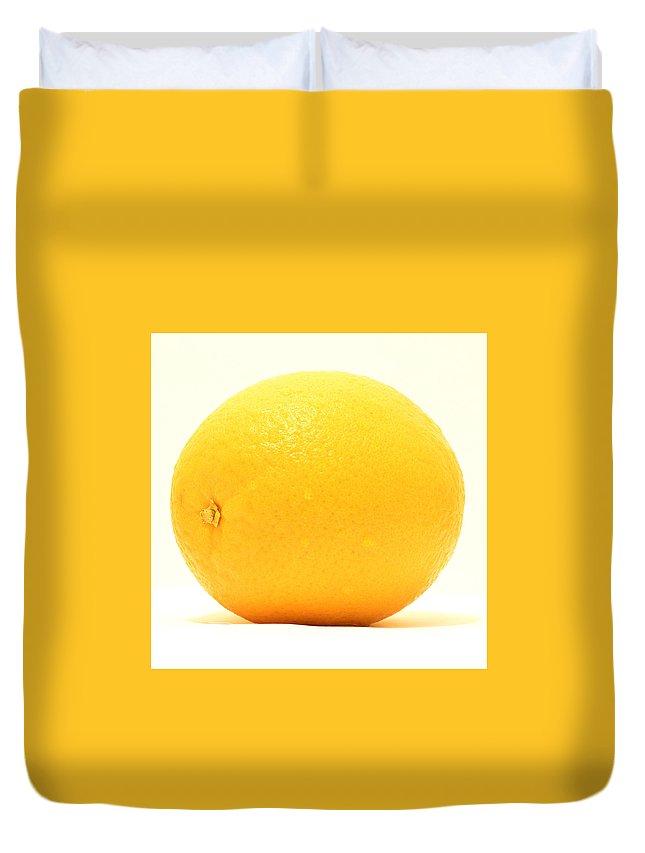 Grapefruit Duvet Cover featuring the painting Grapefruit Yellow by Ruslan Kayumov