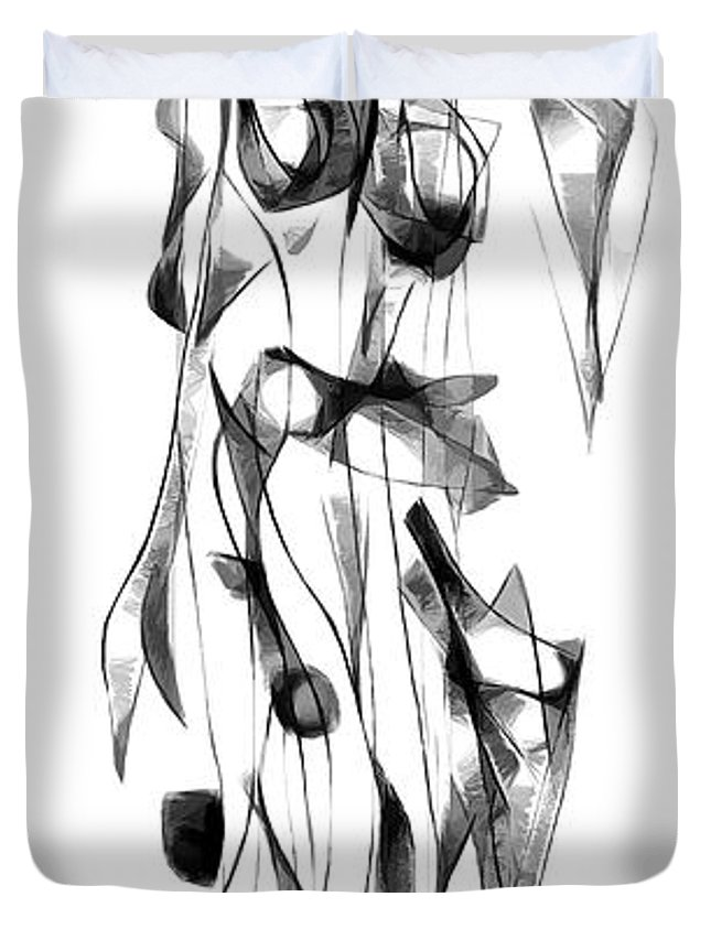 Abstraction Duvet Cover featuring the digital art Graphics 1674 by Marek Lutek