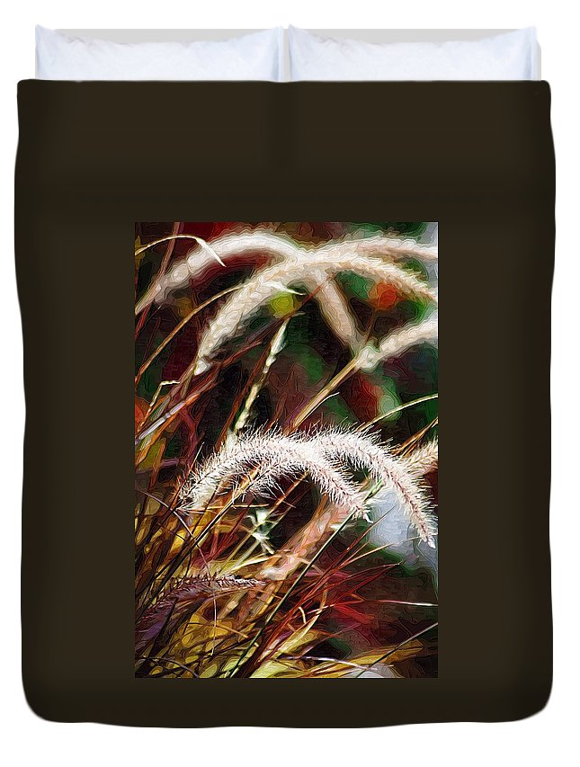 Grass Duvet Cover featuring the photograph Grasses by Donna Bentley