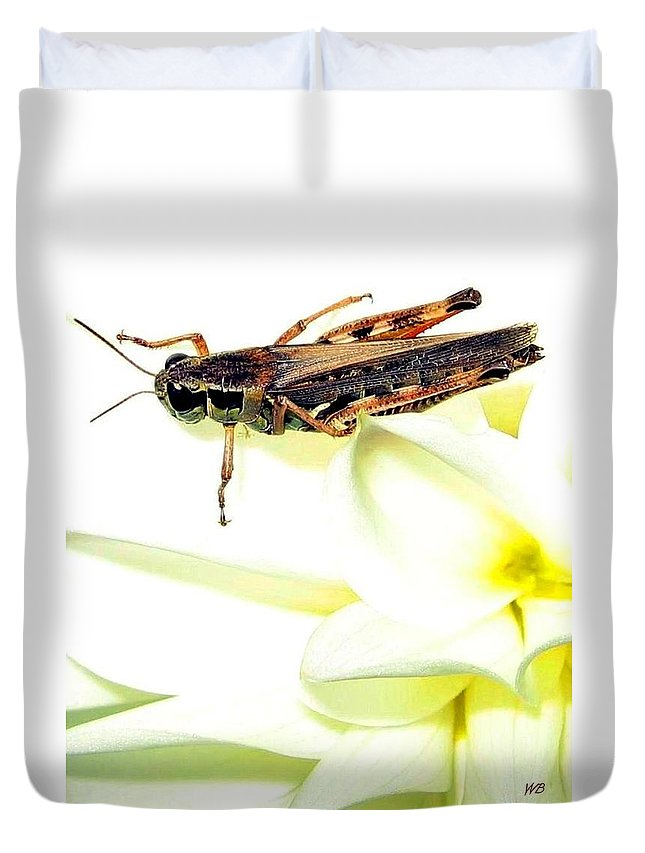 Grasshopper Duvet Cover featuring the photograph Grasshopper by Will Borden