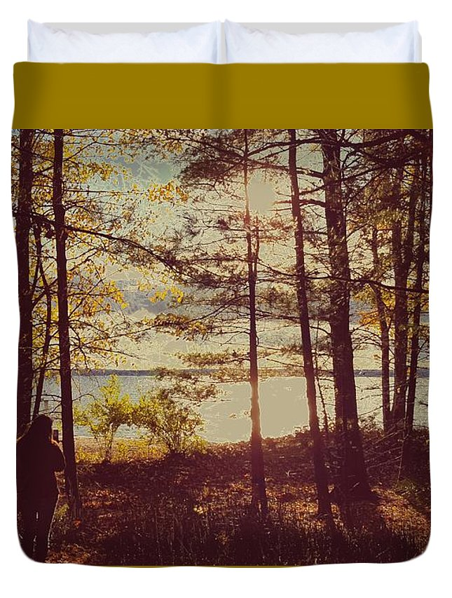 Landscape Duvet Cover featuring the photograph Gravitational by Shawn Taylor
