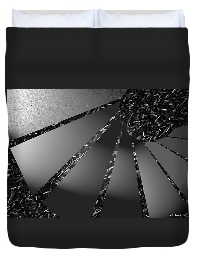 Modern Duvet Cover featuring the digital art Grayed Out by ME Kozdron