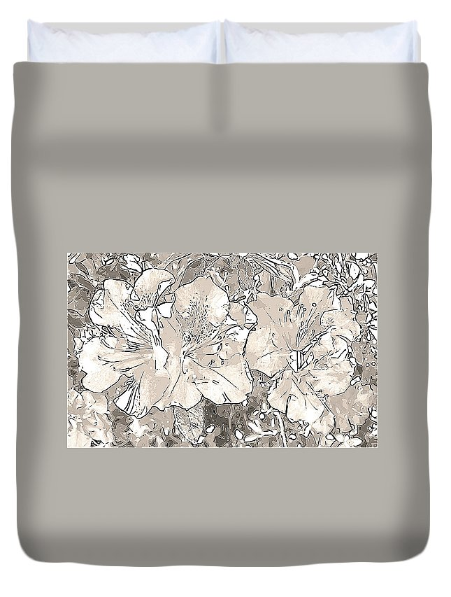 Photography Duvet Cover featuring the digital art Grayscale Bevy Of Beauties With Sepia Tones by Marian Bell