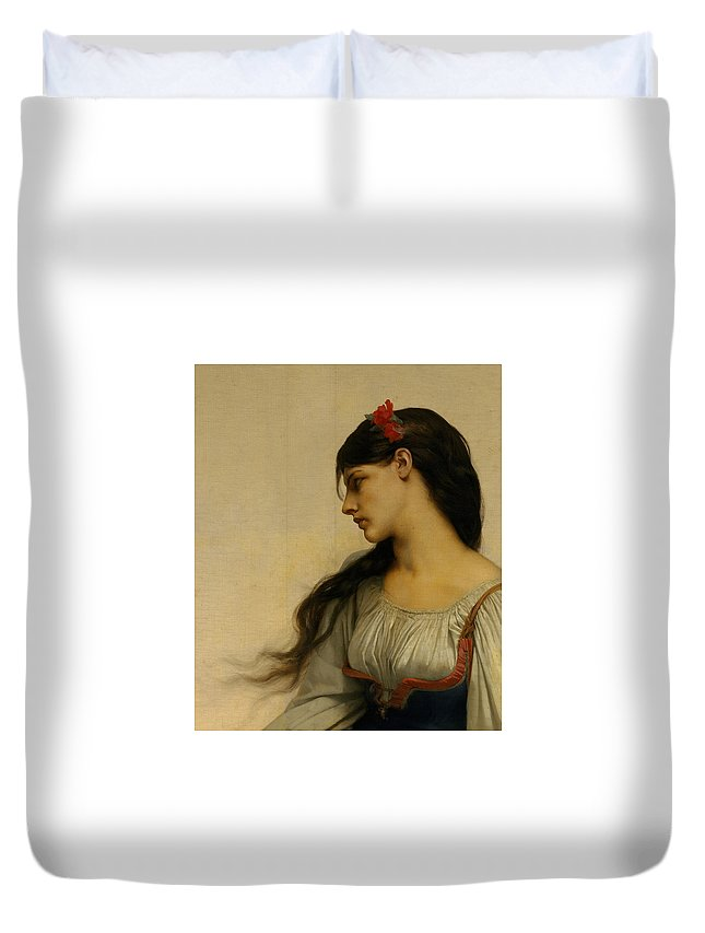 Jules-joseph Lefebvre Duvet Cover featuring the painting Graziella by MotionAge Designs
