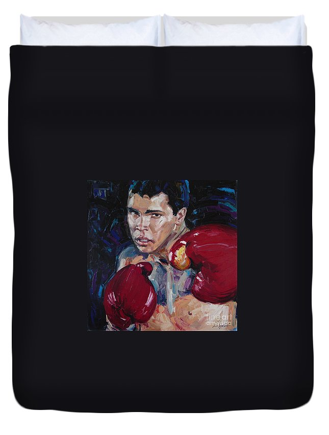 Figurative Duvet Cover featuring the painting Great Ali by Sergey Ignatenko
