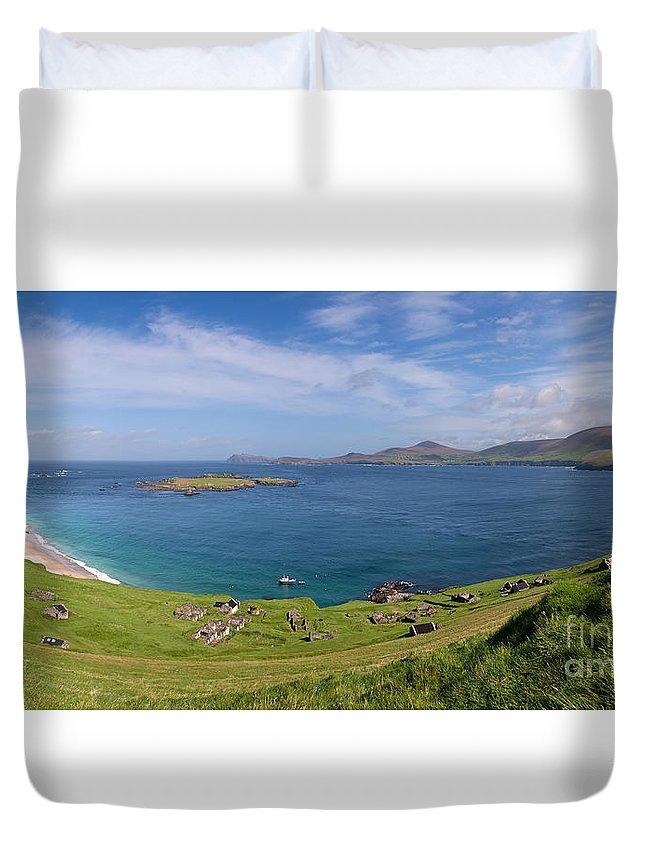 Ireland Duvet Cover featuring the photograph Great Blasket Island by Natasha Van meenen