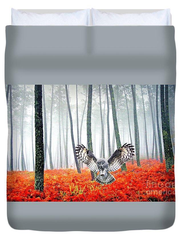Great Grey Owl Duvet Covers