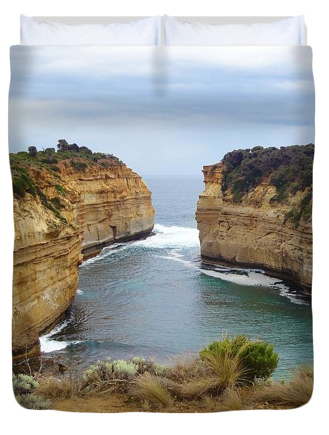 Great Ocean Road Duvet Cover featuring the photograph Great Ocean Road by Kyle Cwynar
