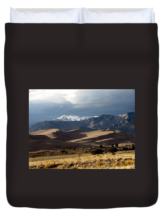 Sand Duvet Cover featuring the photograph Great Sand Dunes National Park by Carol Milisen