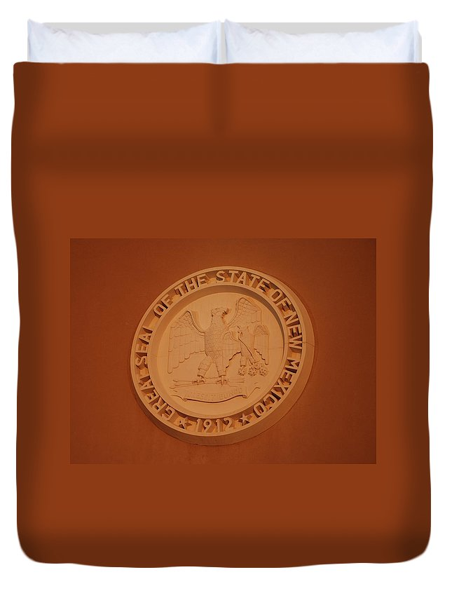 Eagle Duvet Cover featuring the photograph Great Seal Of The State Of New Mexico 1912 by Rob Hans