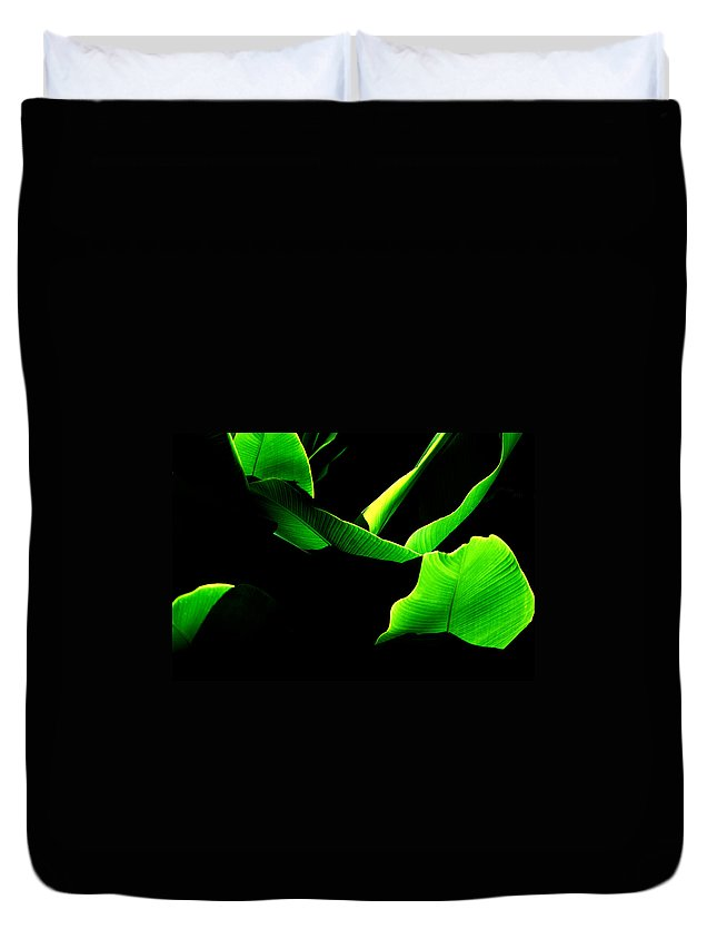 Green Duvet Cover featuring the photograph Green Energy by Michael Mogensen