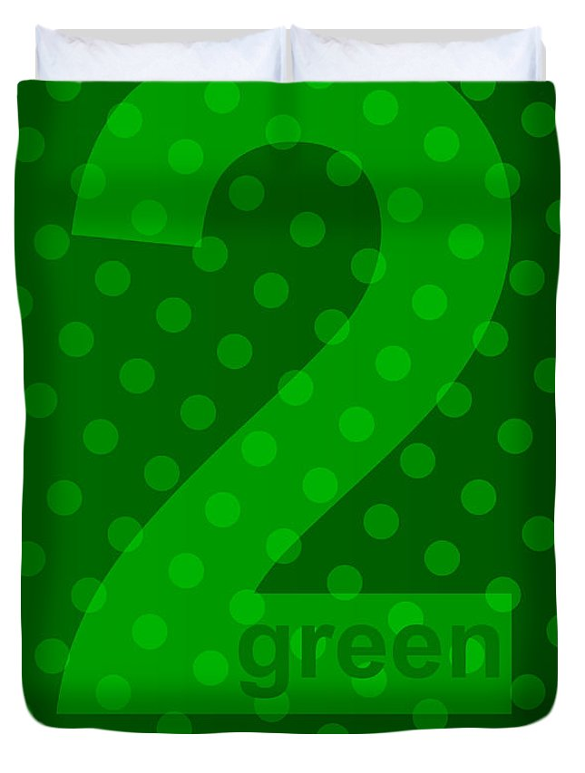 Green Duvet Cover featuring the digital art Green Goddess Santhia by Maciej Mackiewicz