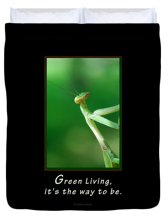 Texas Duvet Cover featuring the photograph Green Living by Erich Grant
