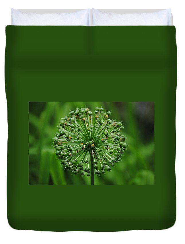 Green Duvet Cover featuring the photograph Green On Green by Eric Liller
