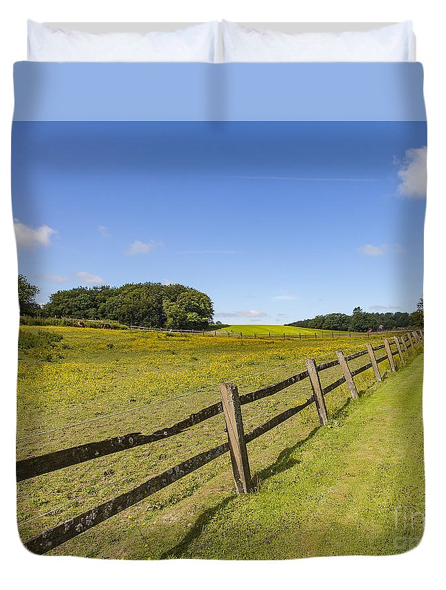 Sweden Duvet Cover featuring the photograph Green Pasture by Sophie McAulay