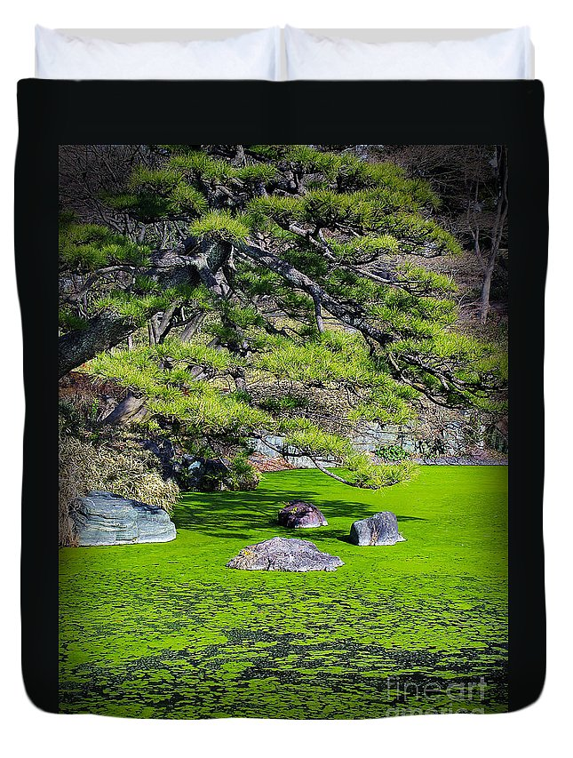 Winter Duvet Cover featuring the photograph Green Winter by Eena Bo