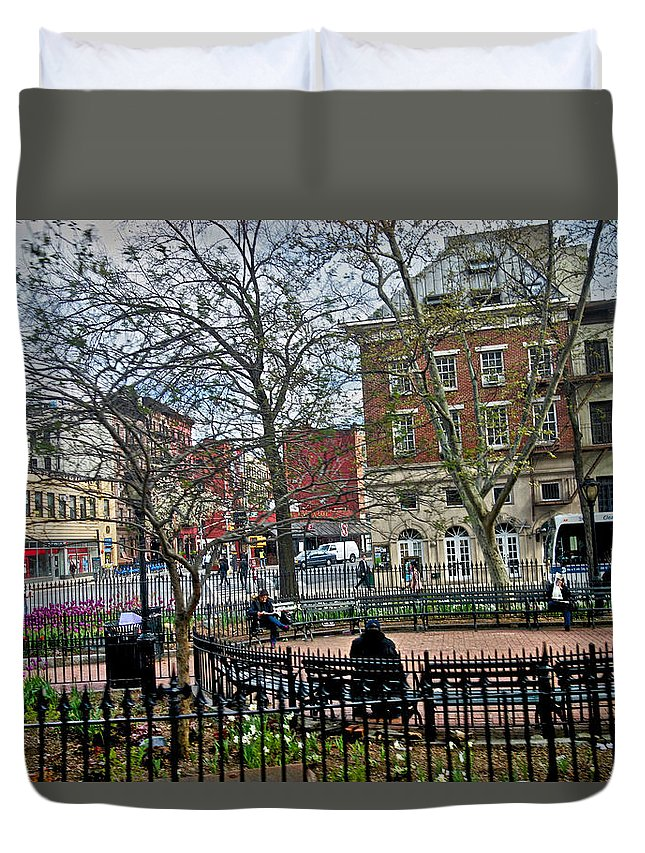 Greenwich Village Duvet Cover featuring the photograph Greenwich Village New York City by Joan Reese
