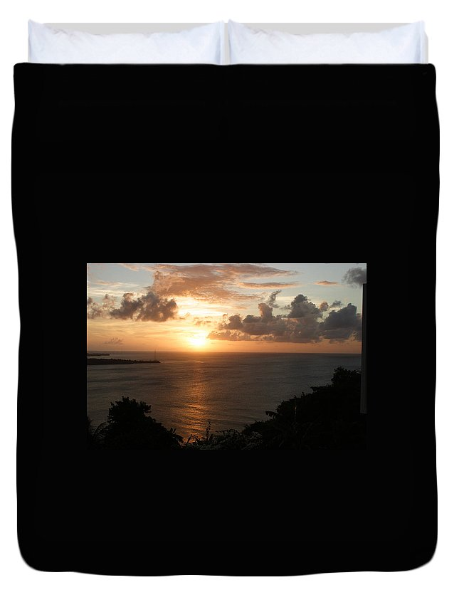 Grenada Duvet Cover featuring the photograph Grenadian Sunset I by Jean Macaluso