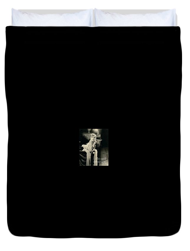 Greta Nissen Duvet Cover featuring the photograph Greta Nissen by Kay Shackleton