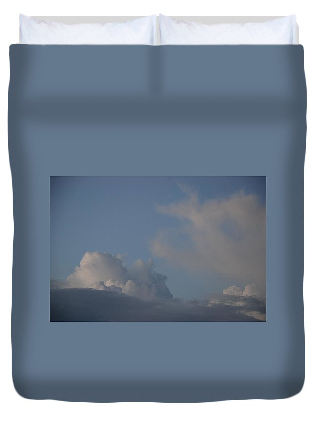 Clouds Duvet Cover featuring the photograph Greyskys by Rob Hans