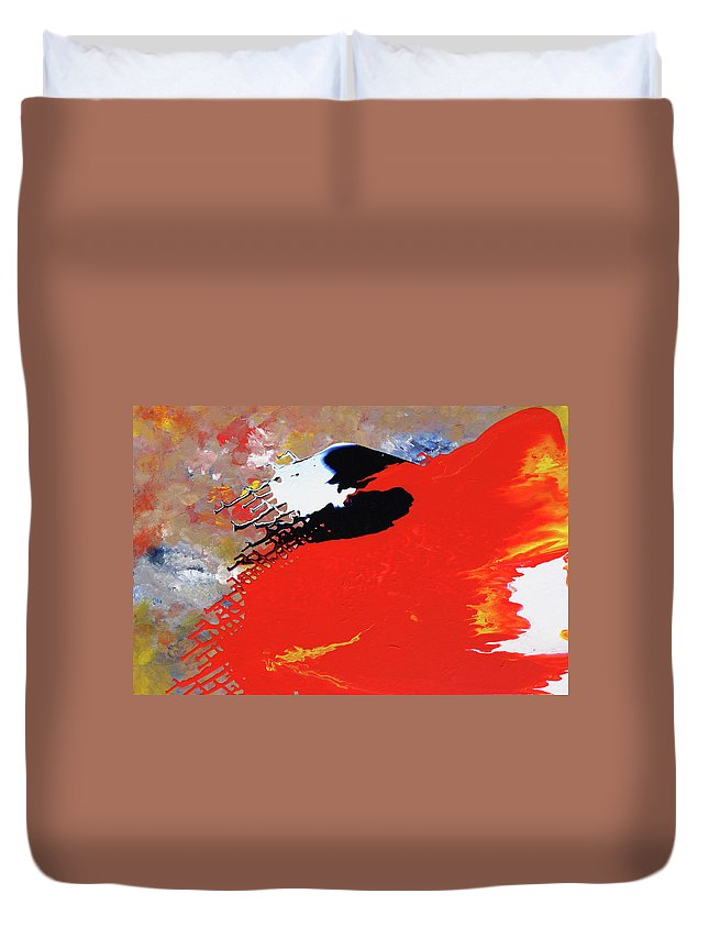 Fusionart Duvet Cover featuring the painting Grid by Ralph White