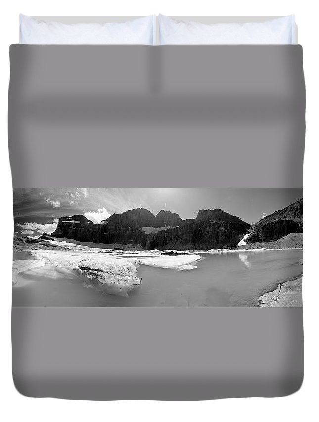 Glacier National Park Duvet Cover featuring the photograph Grinnell Glacier Panorama by Sebastian Musial
