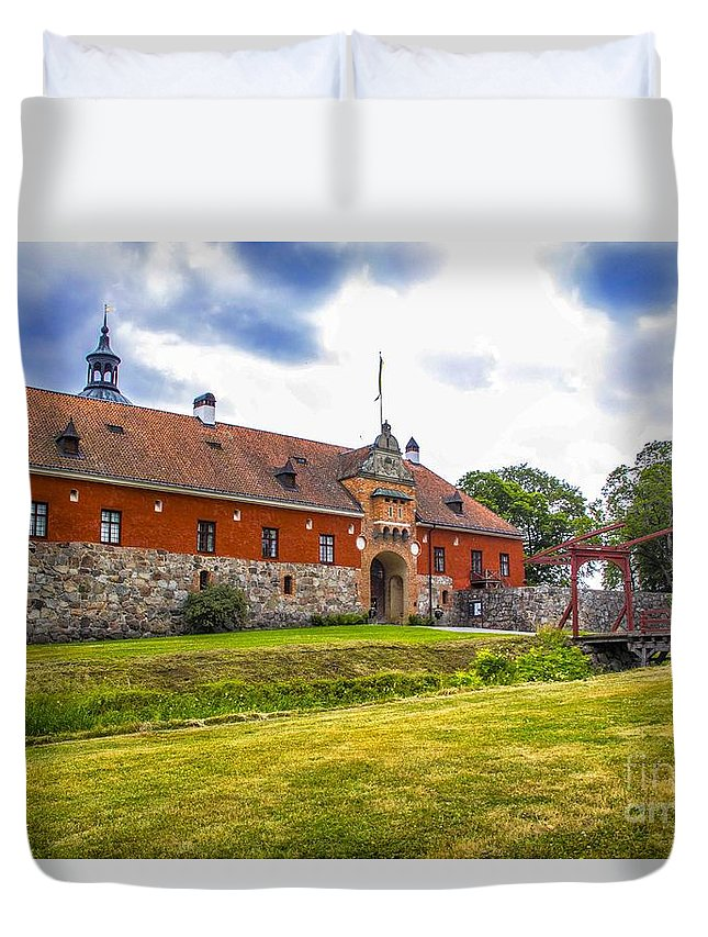 Gripsholm Duvet Cover featuring the photograph Gripsholm Entrance by Roberta Bragan