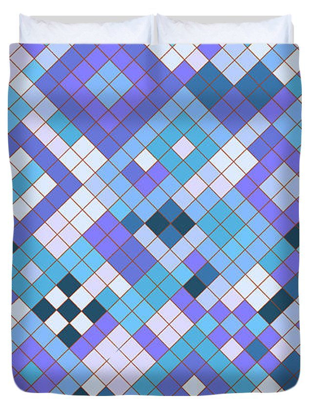 Sixties Duvet Cover featuring the digital art Groovy Blues by Tab O'Neal