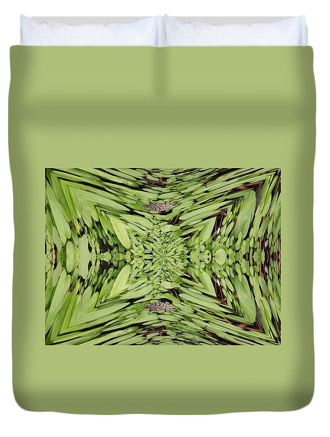 Nature Duvet Cover featuring the digital art Ground Cover Vortex by Tim Allen