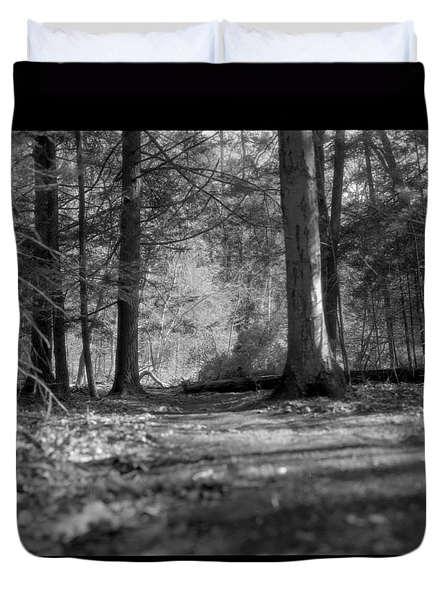 Trees Duvet Cover featuring the photograph Ground Floor by Jean Macaluso