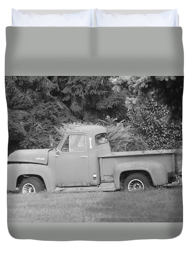 Truck Duvet Cover featuring the photograph Grounded Pickup by Pharris Art