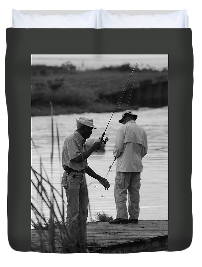 Men Duvet Cover featuring the photograph Grumpy Old Men by Rob Hans