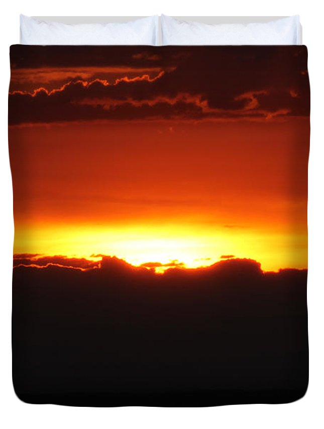 Sunrise Duvet Cover featuring the photograph Sunrise by Steve Bell