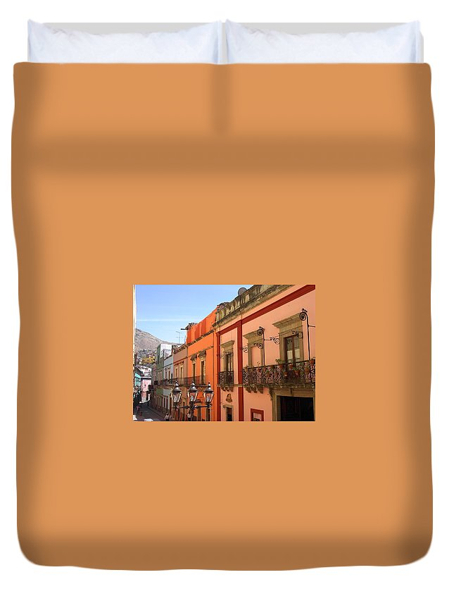 Charity Duvet Cover featuring the photograph Guanajuato by Mary-Lee Sanders