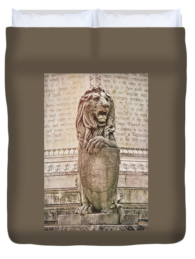 Marble Duvet Cover featuring the photograph Guarding Savannah by JAMART Photography