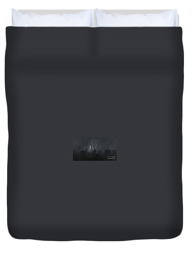 Death Duvet Cover featuring the digital art Guiding Light by Richard Rizzo