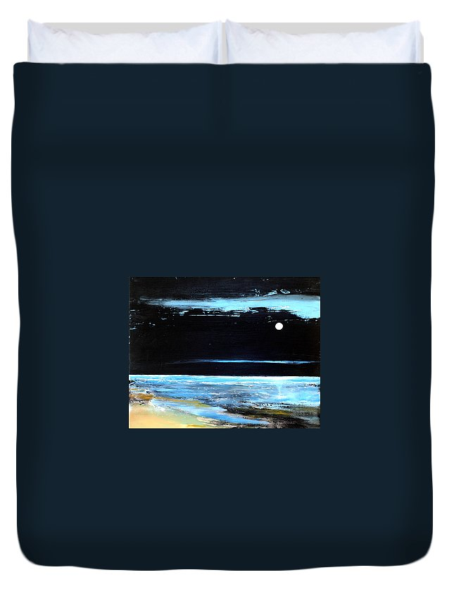 Landscape Duvet Cover featuring the painting Guiding Light by Toni Grote