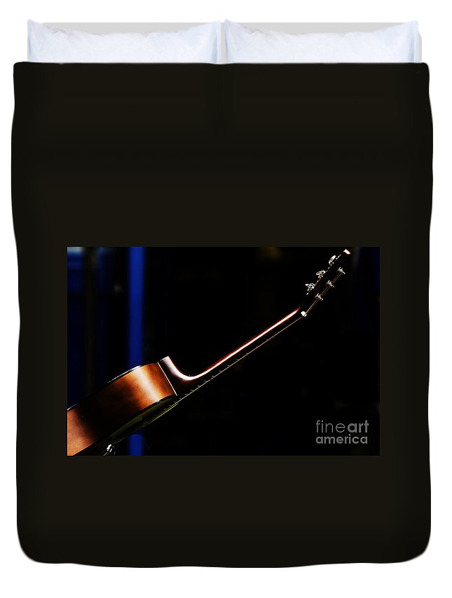 Guitar Duvet Cover featuring the photograph Guitar by Sheila Smart Fine Art Photography
