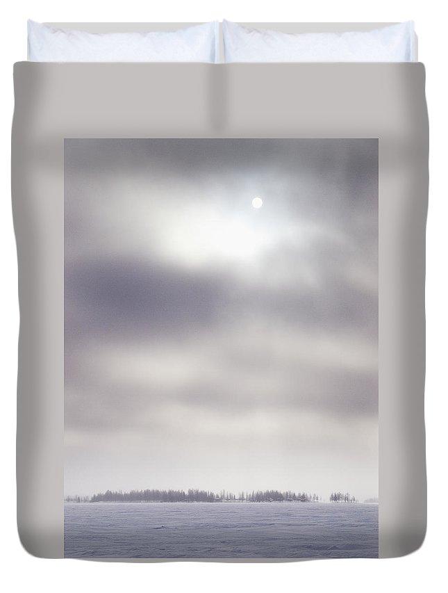 Lehtokukka Duvet Cover featuring the photograph Gulf Of Bothnia Variations Nr 12 by Jouko Lehto