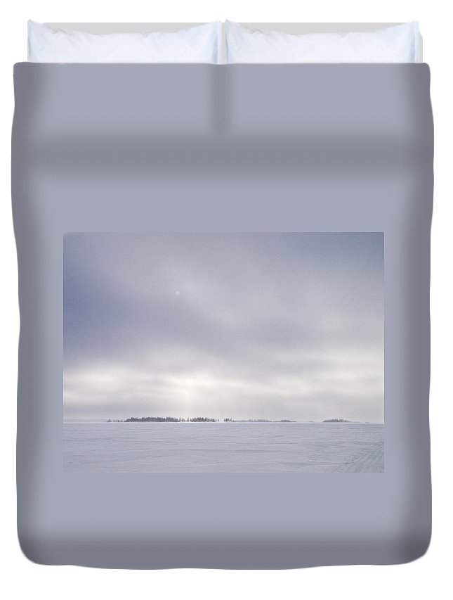 Lehtokukka Duvet Cover featuring the photograph Gulf Of Bothnia Variations Nr 8 by Jouko Lehto