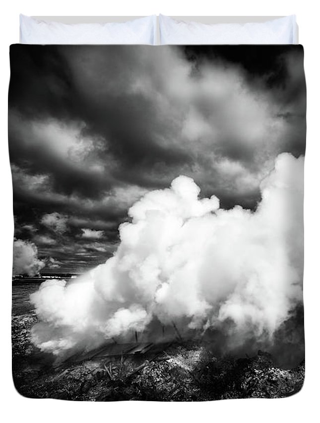 Iceland Duvet Cover featuring the photograph Gunnuhver Iceland With Gunna Hot Spring by Matthias Hauser
