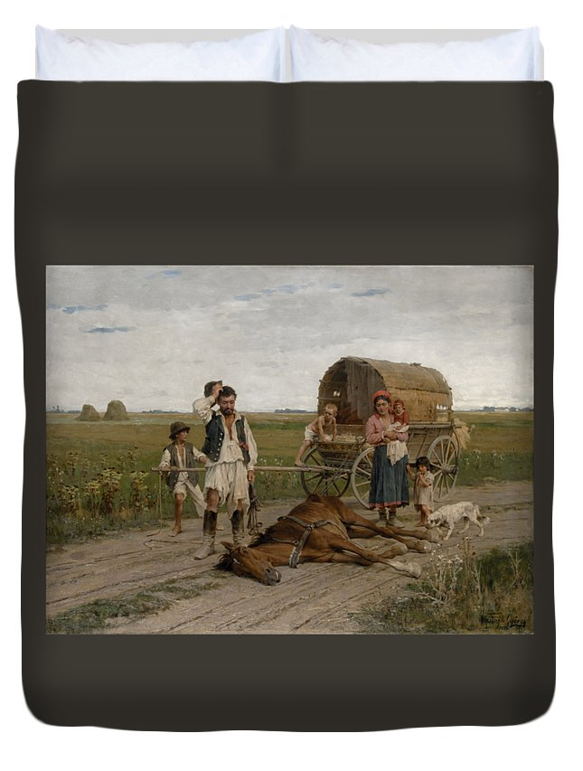 Gypsy Duvet Cover featuring the digital art Gypsies by Frederick Holiday